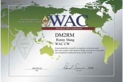 DM2RM WAC CW