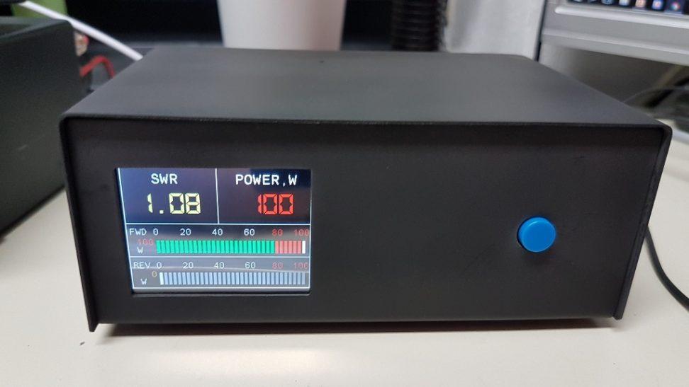 Digital Swr Meter : Display dm rm german amateur radio station